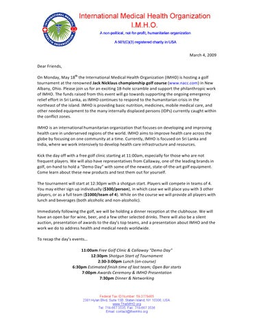 Issuu Golf Tournament Invitation Letter 2009 By