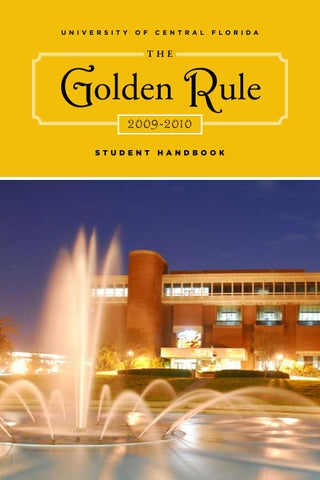 The Golden Rule 2009-2010 Student Handbook