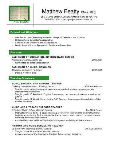 Resume help in hamilton ontario