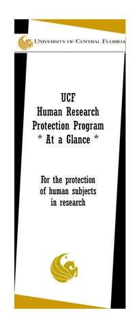UCF Human Research Protection Program At a Glance 2010