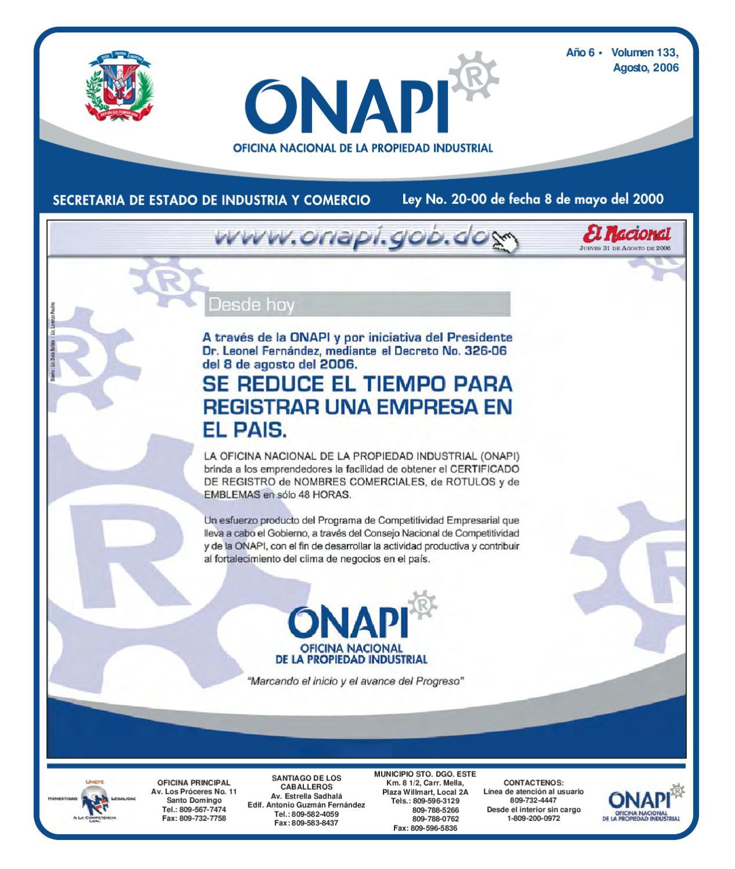 Issuu 31 agosto by oficina nacional de la propiedad for Oficina nacional de fiscalidad internacional