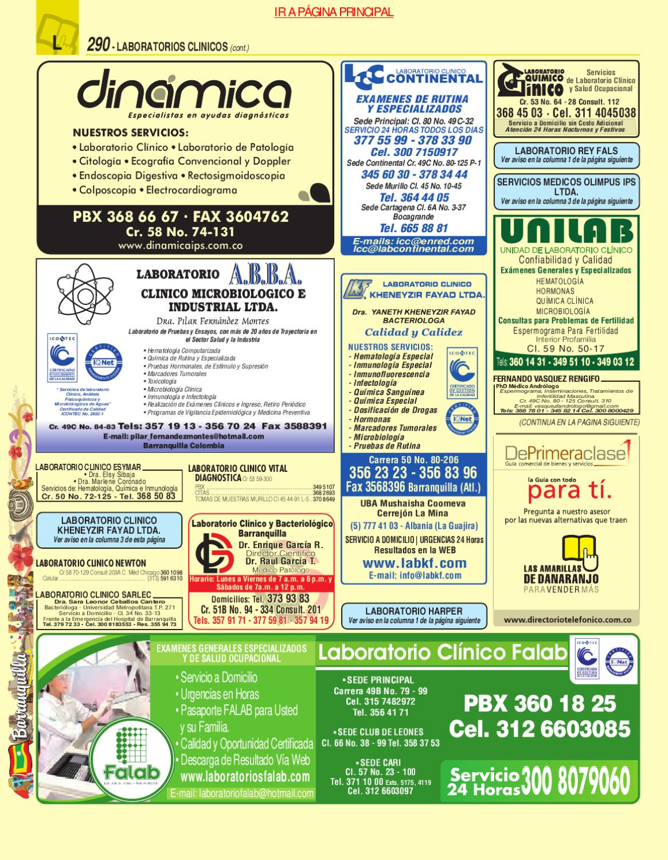 Issuu directorio telefonico barranquilla atlantico 2010 - Paginas amarillas inmobiliarias ...