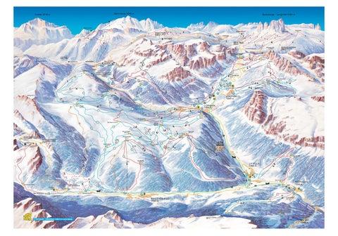 Схема горнолыжного курорта Альта Бадиа.