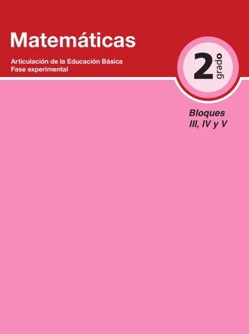 Matemáticas 2do. Grado Bloques 3,4 y 5