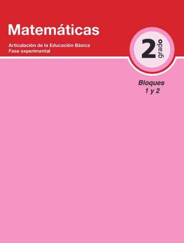 Matemáticas 2do. Grado Bloques 1 y 2