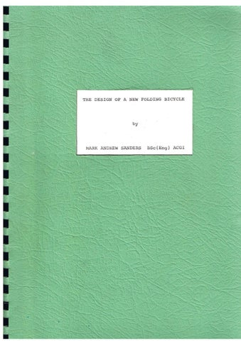 Master thesis in mechanical engineering