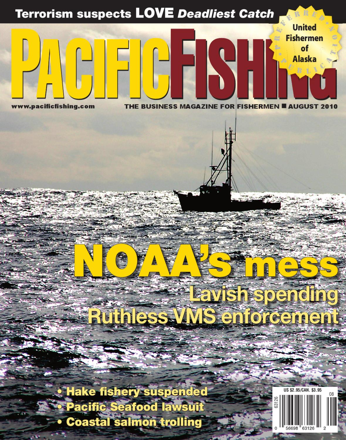 Issuu pacific fishing august 2010 by peter hurme for Pacific fishing magazine