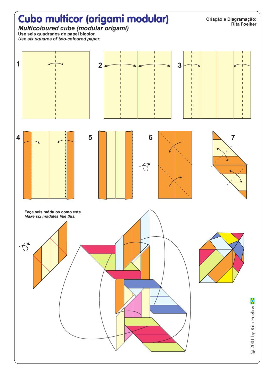 Оригами схемы из бумаги кубик