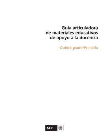 Guía Articuladora de Materiales Educativos 5to. Grado