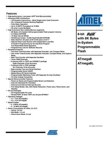 Datasheet ATMEGA8.