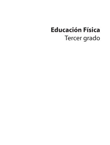 Educación Física 3er. Grado