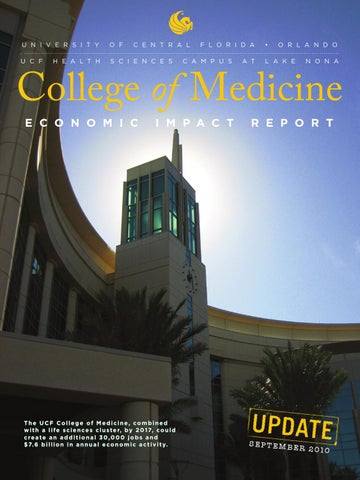 UCF College of Medicine Economic Impact Report Sept 2010