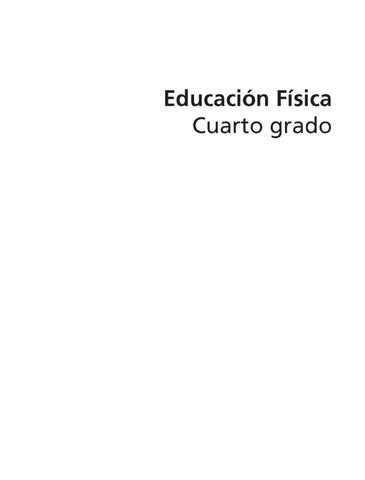 Educación Física 4to grado