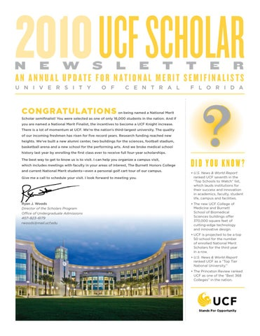 2010 UCF Scholar Newsletter