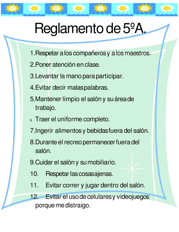 Reglamento escolar by juan fernando rocha page 1 for 10 reglas del futbol de salon