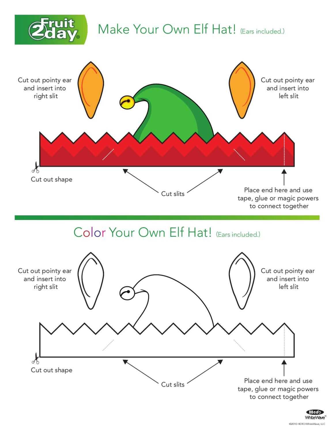 Pattern For Paper An Elf Hat Coloring | Search Results | Calendar 2015