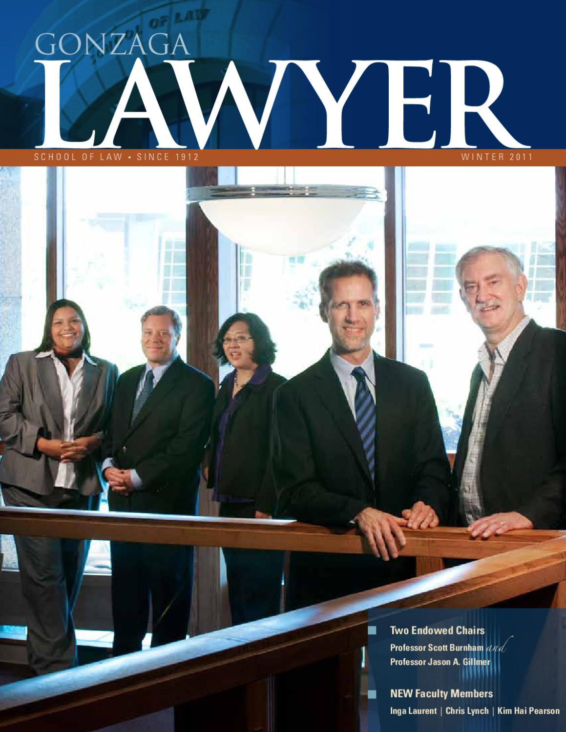 ISSUU - Gonzaga Lawyer Winter 2011 by Gonzaga University