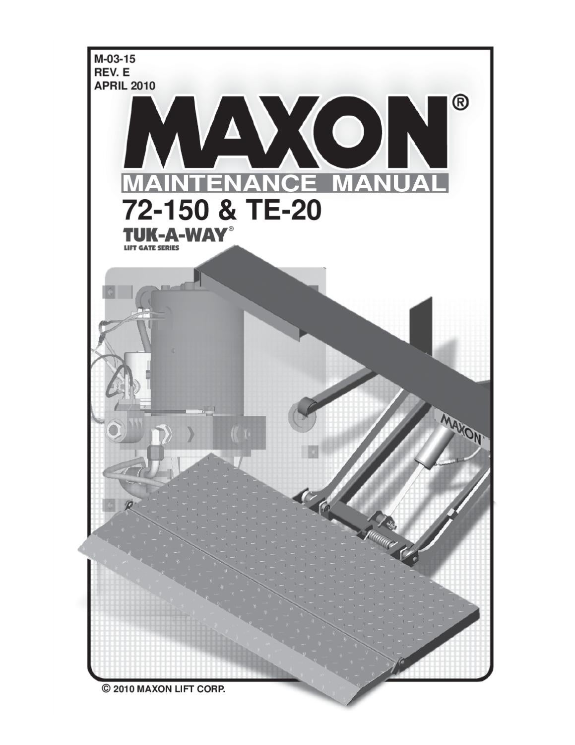 Issuu Maxon 72 150 Amp Te 20 Liftgates By The Liftgate
