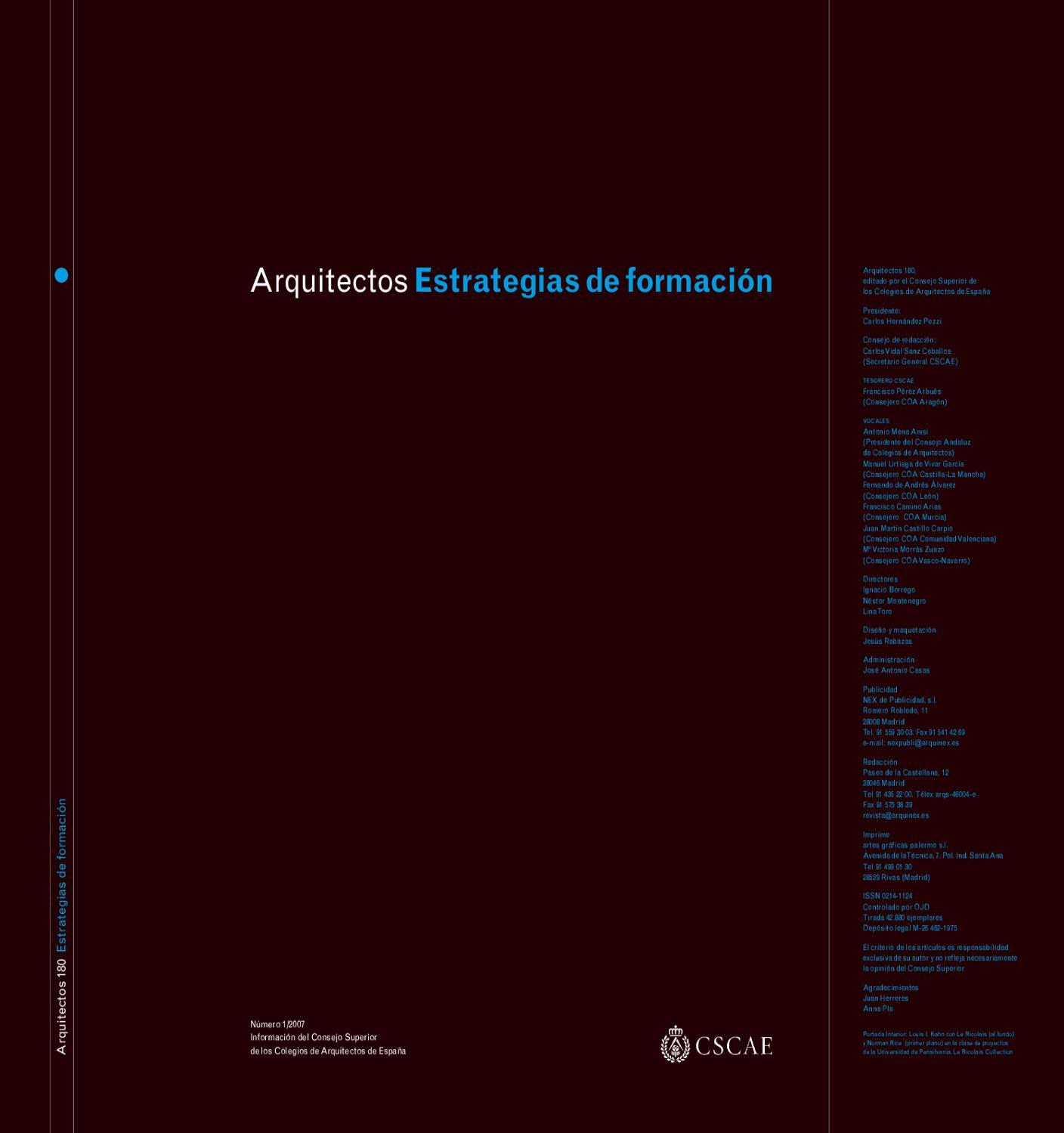 Arquitectos 180: Estrategias de formación