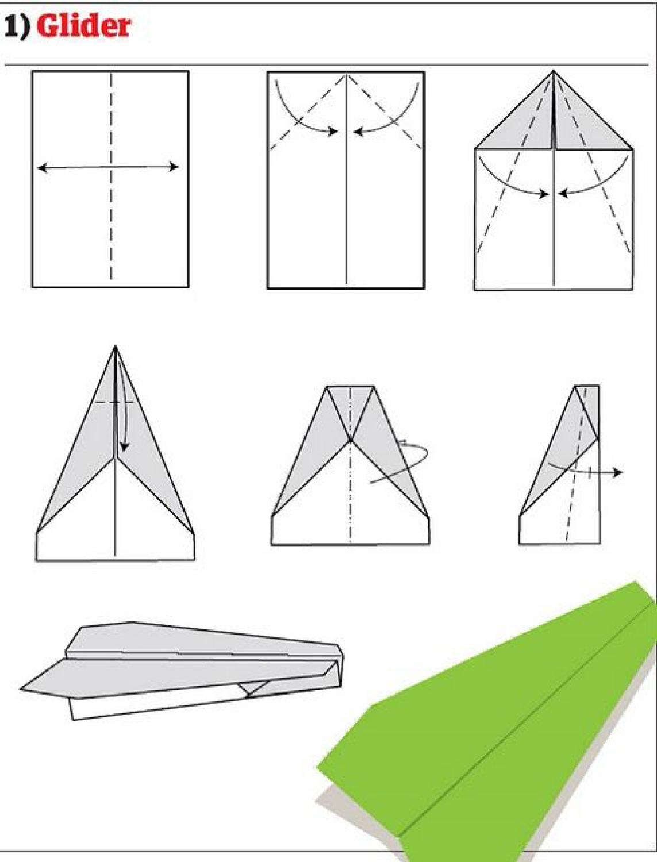Как сделать из бумаги самолетик который летает 100 метров