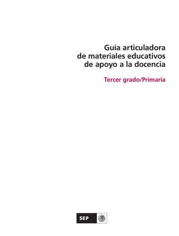 Guía articuladora de materiales educativos 3er. Grado