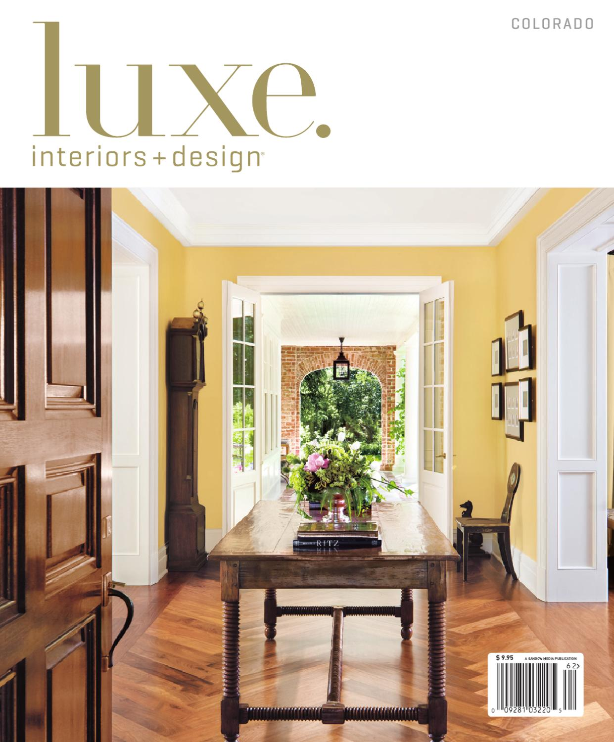 Issuu luxe interior design colorado by sandow media for Luxe interieur design