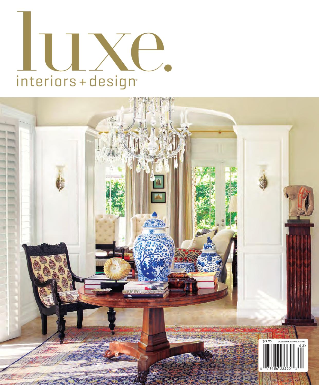 Issuu luxe interior design national by sandow media for Luxe interieur design