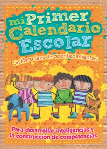 Issuu mi primer calendario escolar by rita mu oz for Asistenciero para jardin de infantes