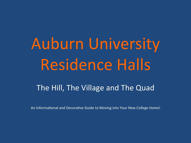 Issuu Auburn University Residence Halls By Gabrielle Hoyt