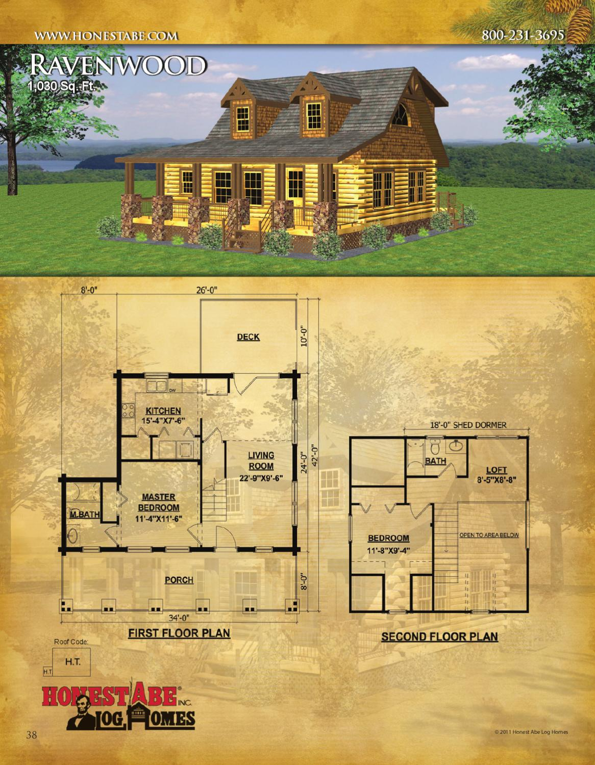 Honest Abe Log Home Plans - House Plan