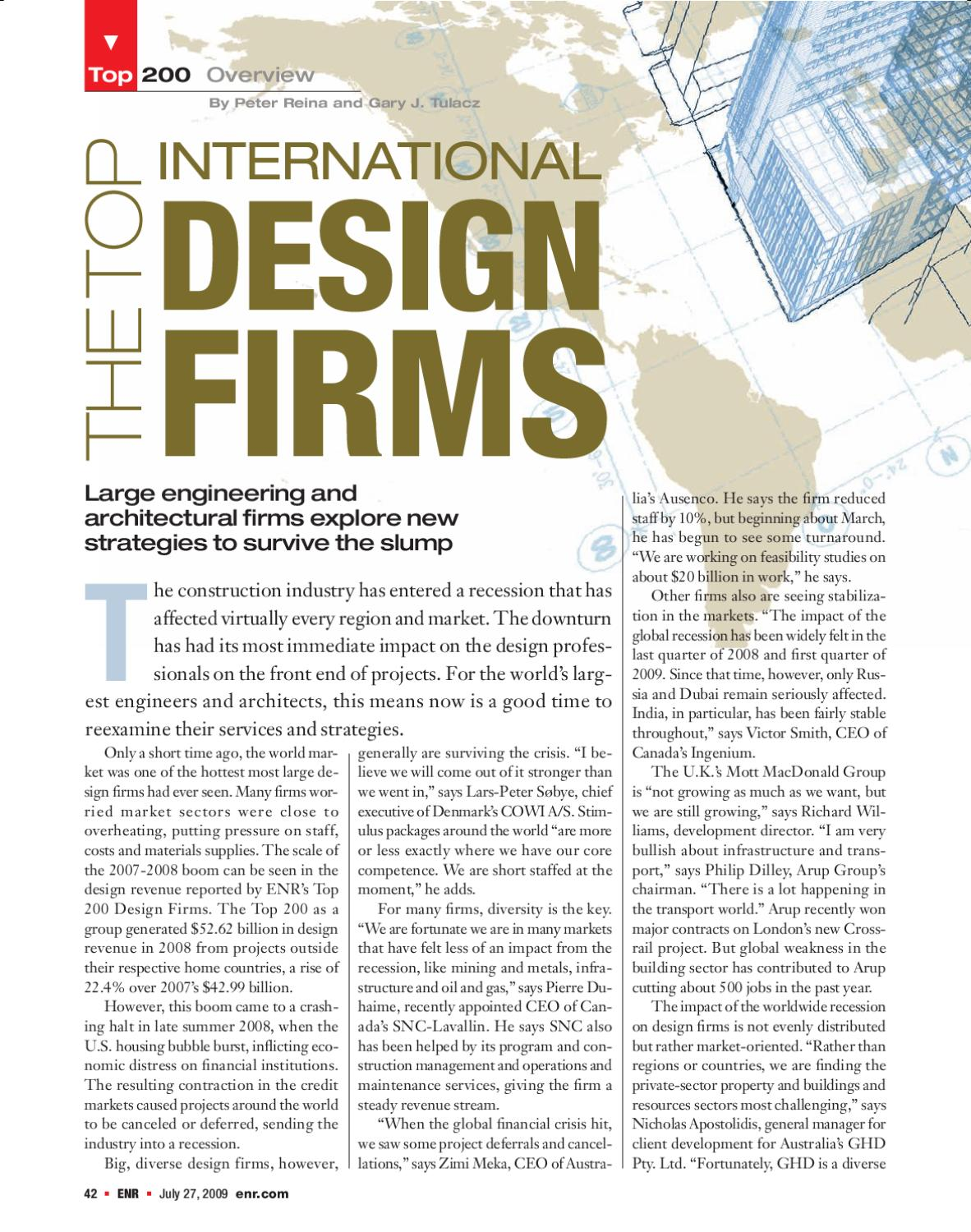 Issuu the top international design firms by pm group for Top international architecture firms