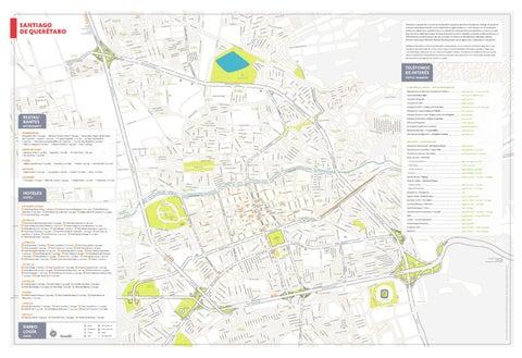 Mapa de la ciudad de queretaro by secretar a de turismo de for Ciudad santiago villas