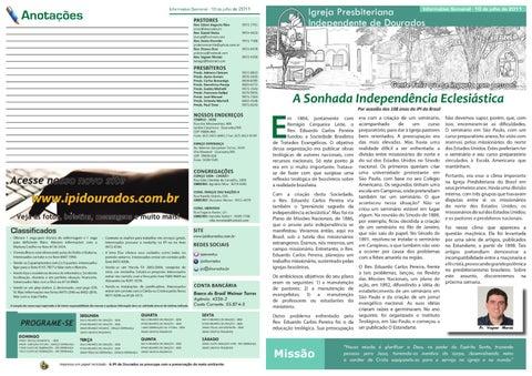 Informativo IPI DOurados 10-07-2011