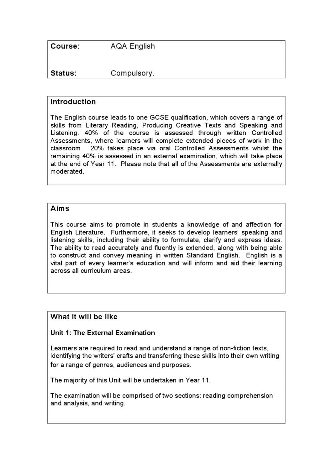 aqa essay writing english Aqa gcse english language creative writing mark scheme, - online creative writing publications certified professional essay writers & resume experts creating amazing resumes that help clients across the globe win more interviews with top employers and get better job offers everyday.