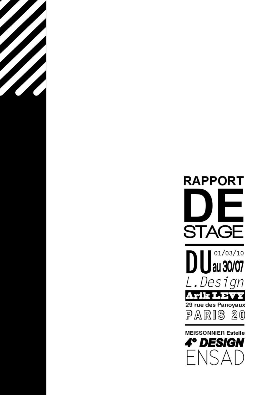 ISSUU - Rapport de stage chez L.DESIGN by Estelle Meissonnier