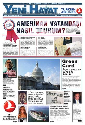 Yeni Hayat Gazetesi, Ağustos 2011, Sayı 4