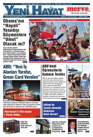 Yeni Hayat Gazetesi, Eylül 2011, Sayı 5