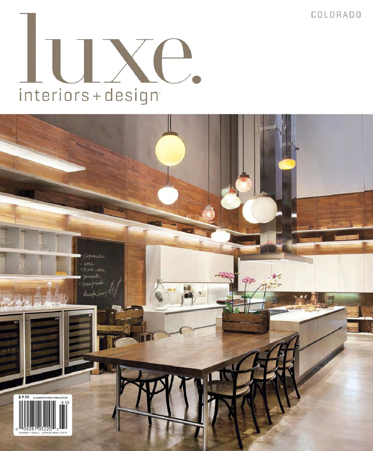 Issuu luxe interiors design colorado 25 by sandow media for Luxe interieur design