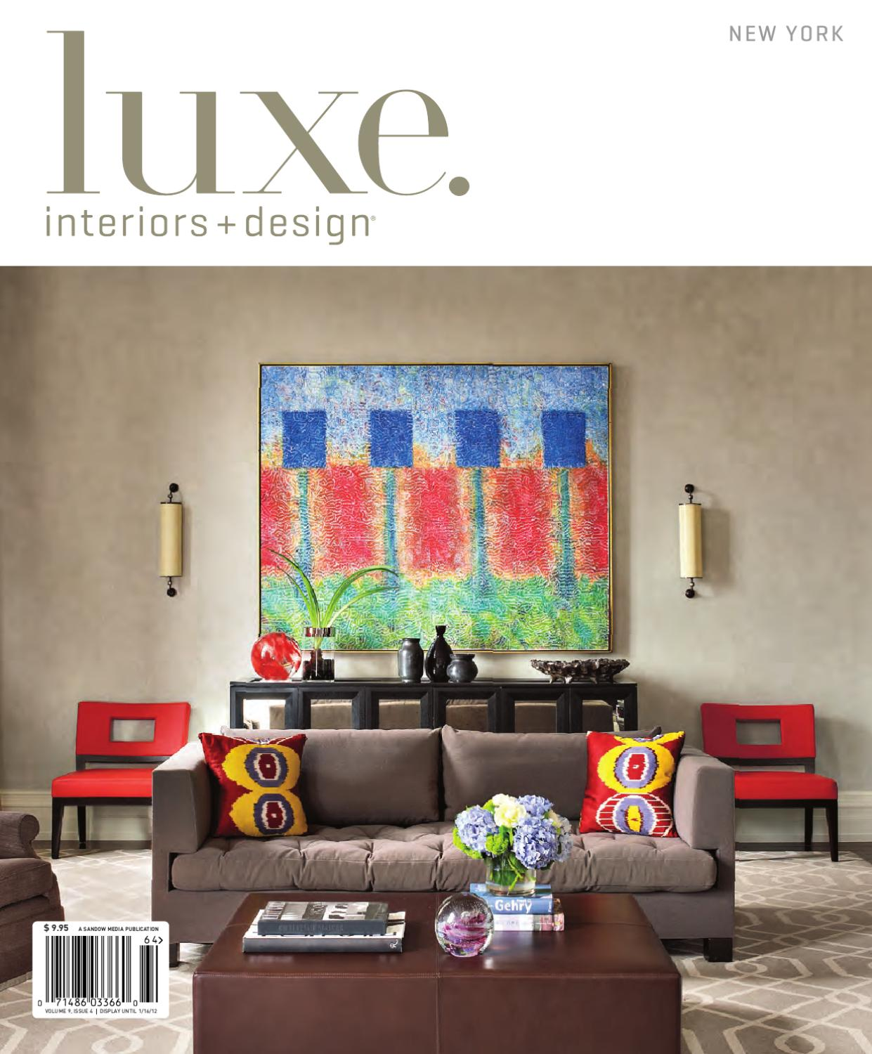 Issuu luxe interiors design ny 3 by sandow media for Luxe furniture and design