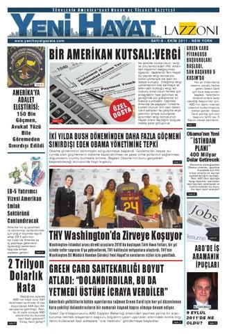 Yeni Hayat Gazetesi, Ekim 2011, Sayı 6