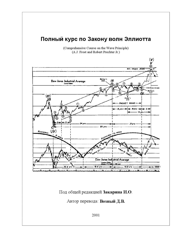 elliott wave principle key to market behavior pdf