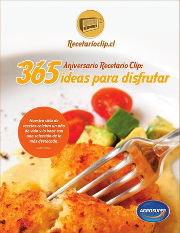365 Recetas para disfrutar – RecetarioClip   Pdf   Español   UL