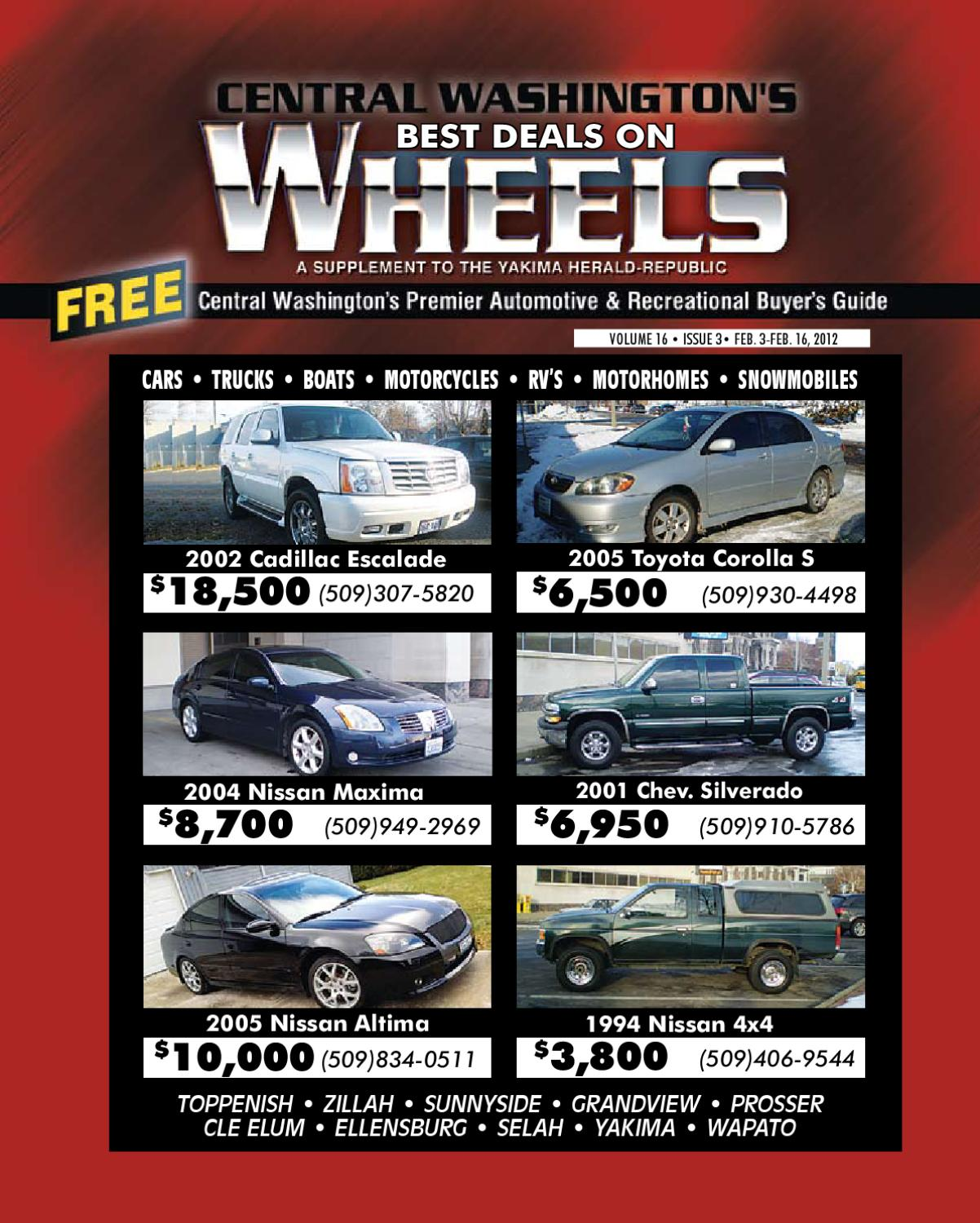 Deals on wheels yakima washington