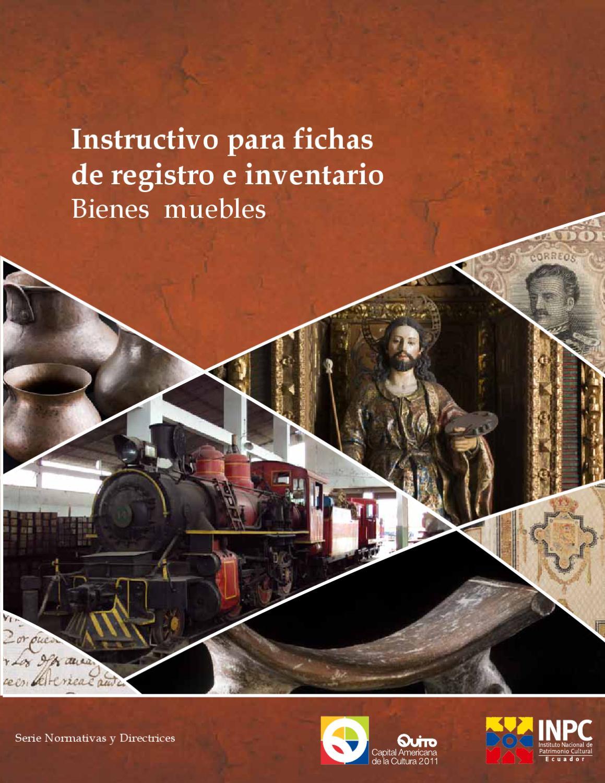 Instructivo para fichas de inventario de bienes culturales muebles by Riesgos...