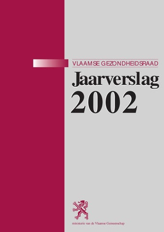 Jaarverslag van de Vlaamse Gezondheidsraad 2002
