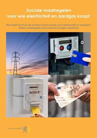 Sociale maatregelen voor wie elektriciteit en aardgas koopt