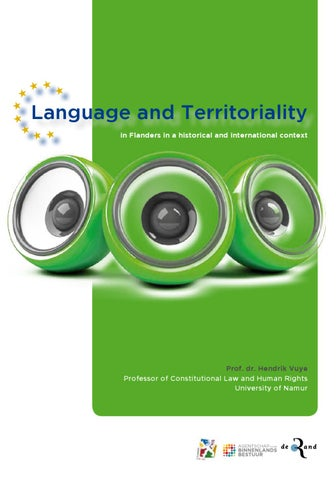 Language and territoriality in Flanders in a historical and international context