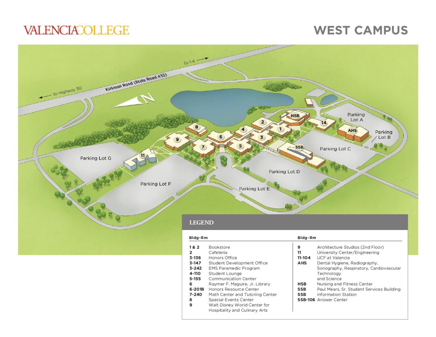 Issuu Valencia College Campus Map West By Valencia College