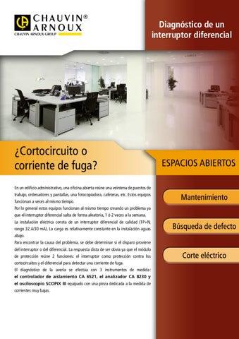 Nota de aplicación: DIAGNÓSTICO DE UN INTERRUPTOR DIFERENCIAL