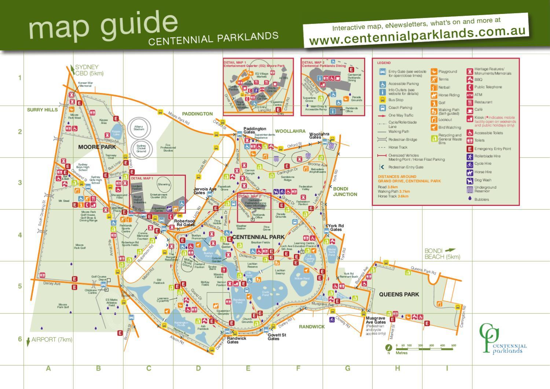 ISSUU  Centennial Parklands Map 2012 By Rachel Maiden